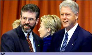 Gerry Adams and Bill Clinton