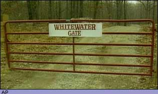 Gate with sign: Whitewater gate