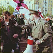 Anti-government demonstrations in Minsk, 1997/ AP
