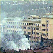 Tbilisi Parliament under fire in 1992