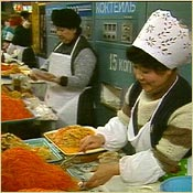 A food market in Kazakhstan