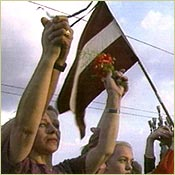 Anti-USSR protests in Latvia