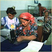Uzbek women at work