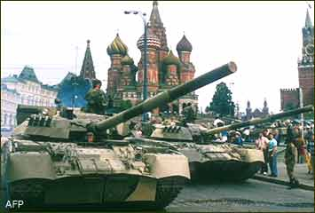 Tanks in red square