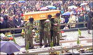 Bobby Sands' coffin