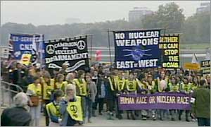 A CND march in Hyde Park