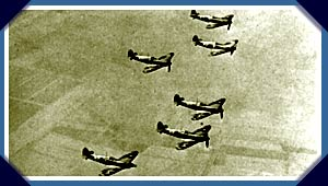 Spitfires in formation over the UK