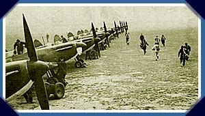 Pilots scramble for their aircraft