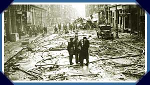 Bomb damage in central London