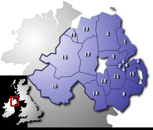 Northern Ireland Constituency Image Map