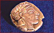 Greek Coin head