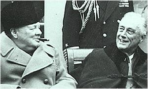 1945: Churchill with Roosevelt
