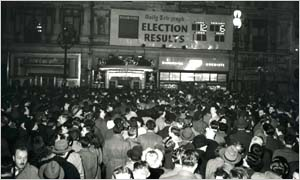 1950: Election night