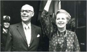 1983: Margaret and Dennis Thatcher