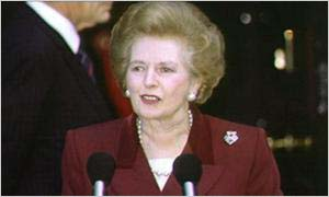 1992: Thatcher resigns