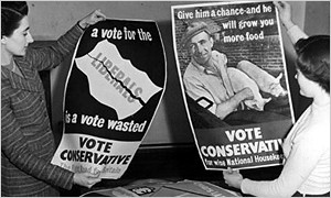 1950: Posters and slogans