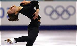 Kwan practices her routine at the start of her quest for Olympic gold