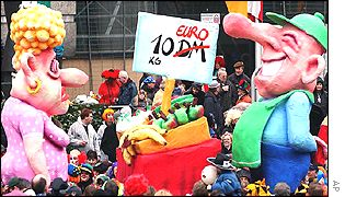A carnival parade in Germany