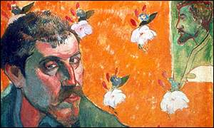 Self-Portrait with Portrait of Bernard, 1888 by Paul Gauguin courtesy of Van Gogh Museum