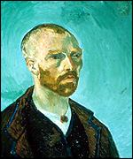 Self-Portrait by Van Gogh, 1888, courtesy of Fogg Art Museum, Collection of Maurice Wertheim