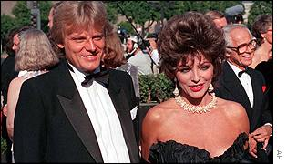 Peter Holm and Joan Collins
