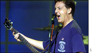 Sir Paul McCartney at World Trade Center memorial show