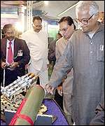 Indian Defence Minister George Fernandes