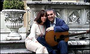 George Harrison With His Wife Olivia