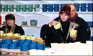 Russian shoppers in Ikea's Moscow store