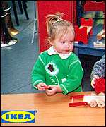 Child in Russian Ikea store