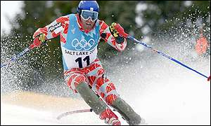 Home favourite Bode Miller sensationally crashed out to assure Baxter of his medal