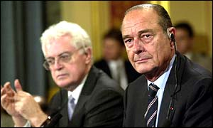 Lionel Jospin (left) and Jacques Chirac