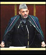 Hamid Karzai addresses Iranian parliament