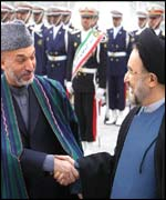 Hamid Karzai and Mohammad Khatami