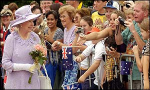 The Queen meets the crowds in Brisbane