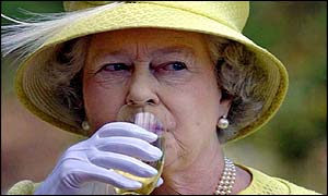 The Queen samples Australian wine