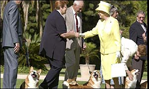 The Queen meets corgi owners from the Adelaide Kennel Club