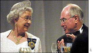 The Queen and Australian Prime Minister John Howard