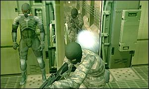 The game is a counter-terrorist adventure, MGS2