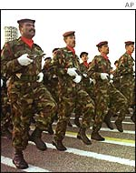 Iraqi army on parade
