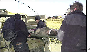 Loading a US military casualty