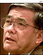 US Transport Secretary Norman Mineta