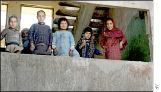 Refugee children in the Russian embassy, Kabul