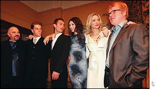 The cast and director of The Talented Mr Ripley