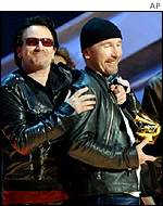 U2 won four Grammy Awards