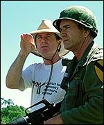 Mel Gibson with director Randall Wallace