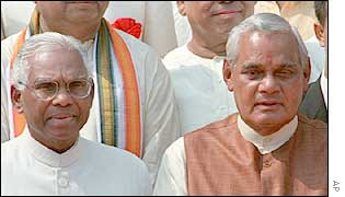 President Narayanan and Prime Minister Vajpayee