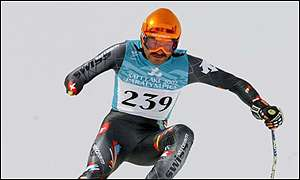 Rolf Heinzmann of Switerland won the men's Alpine Super G race in the LW6/8 section