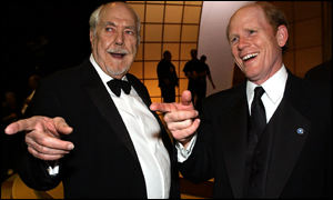 Robert Altman and Ron Howard share a joke