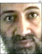 Close-up of Osama bin Laden from video released by Al Jazeera television